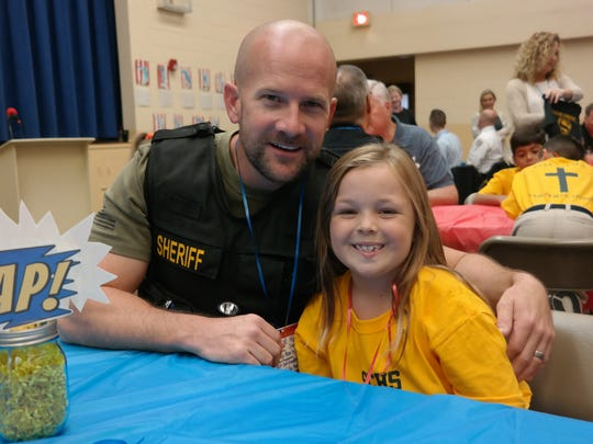 Sheriff's sergeant Wes Harbin was honored by his daughter,