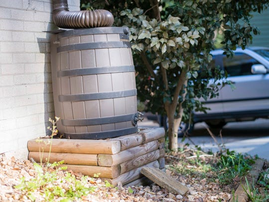 Rain barrels can be used to capture rainwater and store