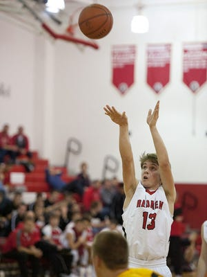 Bucyrus sophomore Clinton Carr led the Redmen with 13 points on Saturday night.