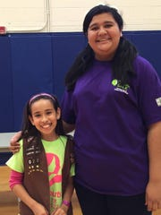 Jayleen Chavira, left, and Victoria Santellano.