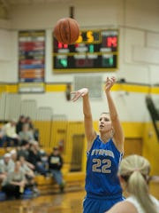 Alyssa Harrer shoots a free throw during a game against