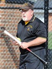 Colonel Crawford softball coach Chuck Huggins will