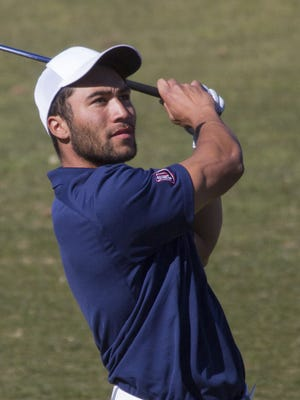 Compton Pikari traveled halfway around the world to play golf at Dixie State University. In his first collegiate tournament this year, Pikari placed in the top-5.