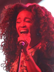 SZA performs at the Gobi tent on the second Saturday of the Coachella Valley Music and Arts Festival in Indio on April 23, 2016.