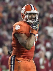 Clemson defensive end Kevin Dodd had eight tackles for loss in the Tigers' two playoff games last season.