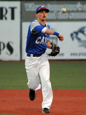 Chillicothe's Jack Busch throws a runner out at VA Memorial Stadium, Monday night against Portsmouth Notre Dame. Busch, a senior, is putting the finishing touches on a magnificent four-year high school career.