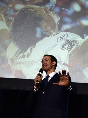 New Orleans Saints quarterback Drew Brees entertained the crowd at The Times Best of Preps on May 16 at the Shreveport Convention Center.