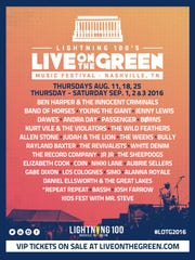 Live on the Green revealed its 2016 lineup on June 23.