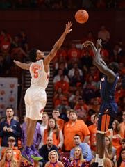 Jaron Blossomgame is bidding to become the first player in school history to be named first-team All-ACC for two consecutive years.