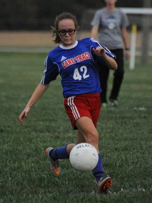 Zane Trace's Haynna Addy looks to score against Southeastern earlier this season in a Division III sectional final.