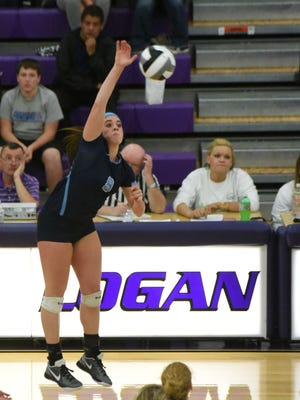 Adena's Devon Putnam hits against Southeastern in a Division III regional semifinal on Nov. 3 at Logan High School. Putnam was named a first-team all-Ohioan on Sunday.