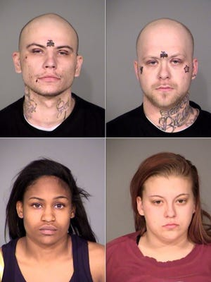 """Quadruple homicide suspects Kenneth """"Cody"""" Rackemann, 25; Anthony """"Ant"""" LaRussa, 27; Samantha Bradley, 21; and Valencia Williams, 22, face charges in the Feb. 20, 2014, slayings of four people on Indianapolis' Southeastside. Six people in all were slain on Feb. 20, 2014, the most killed in one day in Indianapolis, since seven people were slain on June 1, 2006, at a home in the 500 block of North Hamilton Avenue."""
