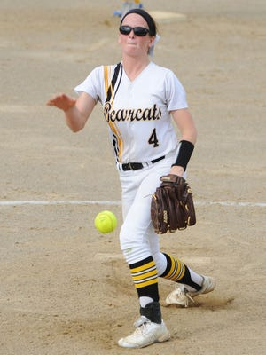 Paint Valley's Mikayla Newland releases a pitch against Manchester last season in a tournament contest. Newland is the favorite to win an SVC Player of the Year honor this season.