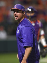 Monte Lee has been the head baseball coach at Clemson for two seasons.