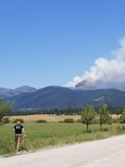 Park Creek Fire burns north of Lincoln on July 15