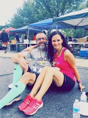 Waynesboro CFAR Runners Vince Halcomb and Alicia Notarianni pose for a photo after completing the Elk County Boulder Dash in Ridgway on Aug. 5.