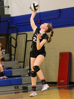 Chillicothe's Sophie Fulkerson serves against Washington Court House last season. Fulkerson, now a sophomore, quickly solidified herself as one of the area's best young talents.
