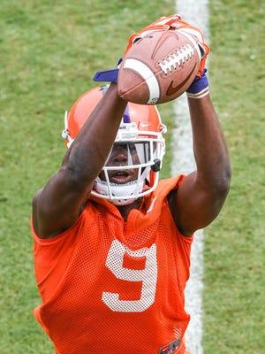 Freshman Travis Etienne had a 32-yard touchdown run in Clemson's first scrimmage of the fall.
