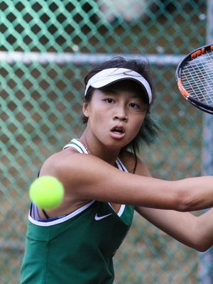 Kinnelon junior Britany Lau advanced to the fourth round of the NJSIAA Individual Singles Tournament this past weekend at Mercer County Park. Lau's quest for a state title came up short after falling in a super tie-breaker late Sunday night.