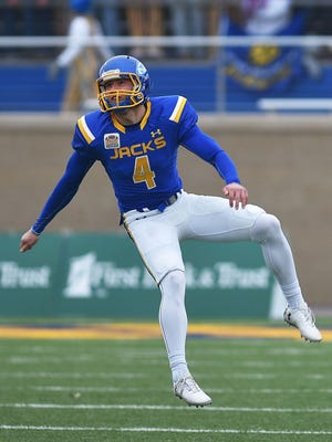 Chase Vinatieri is 8-for-9 on field goals this year for SDSU.