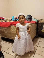 Elizabeth Sebastian, 2, on the day of her baptism. Elizabeth drowned in an Immokalee apartment complex pool.