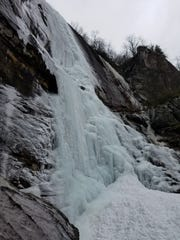 Hickory Nut Falls, a more than 300-foot high waterfall
