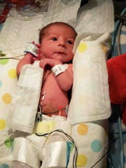 Owen McGinnis, born on July 19, was released from the NICU on July 29.