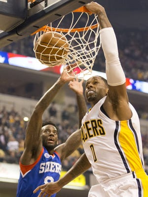 The easiest shot CJ Miles got through the first quarter on Wednesday.