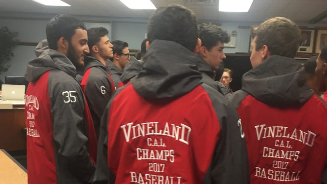 The Vineland High School 2016-17 basement team was awarded their jackets Wednesday.