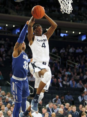 The schedule is set for Edmond Sumner (right) and the Xavier men's basketball team, thanks to the release of the Big East slate.
