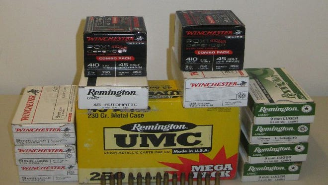 737 rounds of ammunition confiscated at the border.