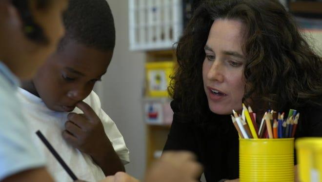 A teacher at an inner city school in Massachusetts.