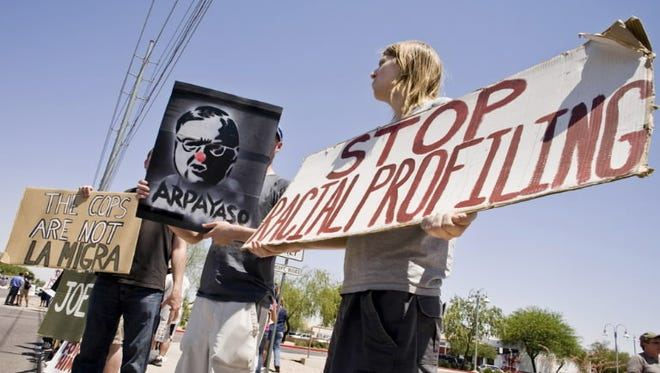Protest against Sheriff Joe Arpaio, Scottsdale, Ariz., June 21, 2008