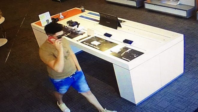 Surveillance photo of a cellphone theft suspect in Manchester Township.