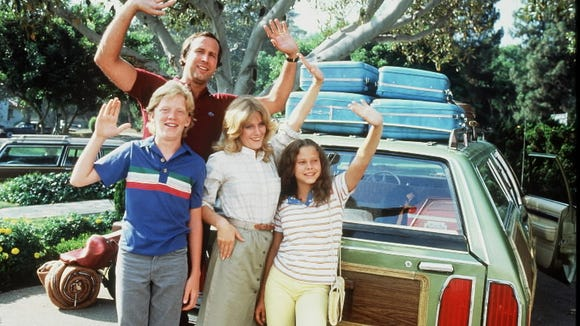 "Chevy Chase and Beverly D'Angelo star in ""National Lampoon's Vacation"" in 1983."
