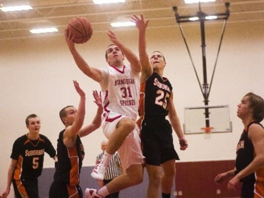 York Suburban outlasted Bermudian Springs, 61-52, on Tuesday.