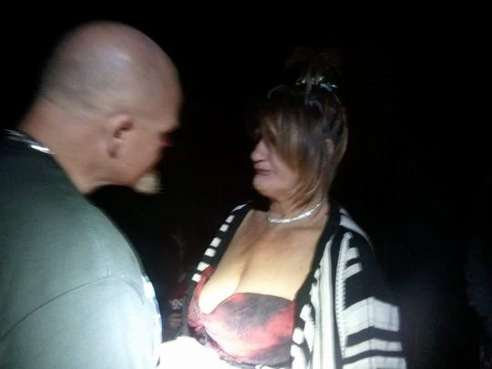 By the light of a flashlight, Michael Hancock and Sharon Crites were married in the homeless camp near Kearney and Glenstone on Nov. 5, 2016. Sharon died of an overdose a couple months later.