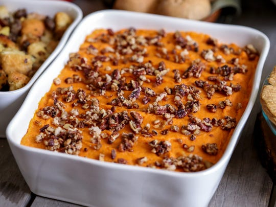 Have your dessert for dinner with a sweet potato casserole.