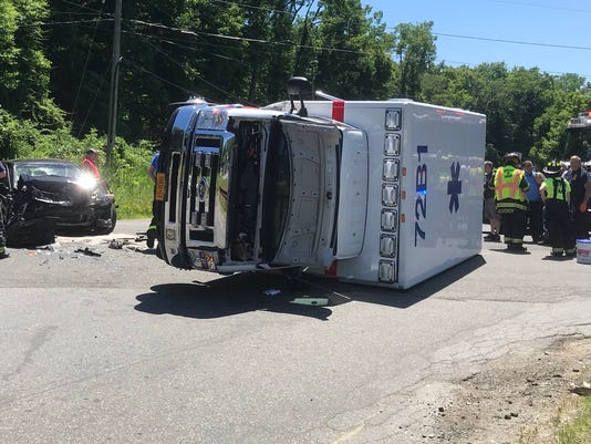 Ambulance accident North Salem