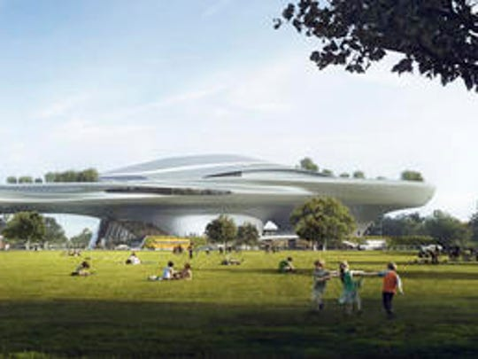 This concept design provided by the Lucas Museum of