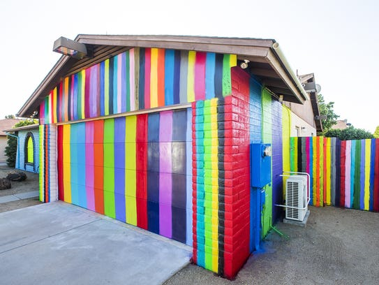 This is the colorful house at the 7400 block of W.