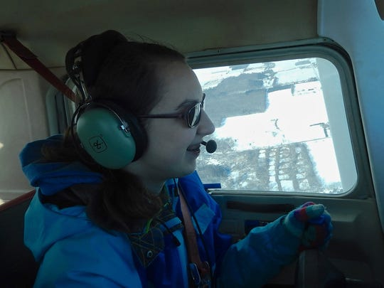 Elizabeth Sharp will have her pilot's license by the time she starts college this fall.