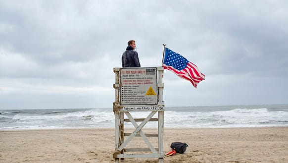 While strong, gusty winds arrive at the Oceanfront,