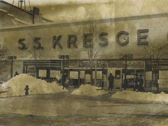 The former S.S. Kresge store is pictured on the former