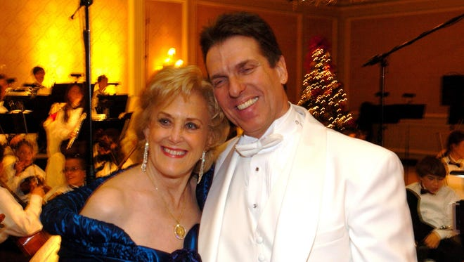 """Jeannette Banoczi and Christian Chalifour at the Coachella Valley Symphony's """"Christmas in Vienna"""" fund-raiser in Rancho Mirage in December 2005."""