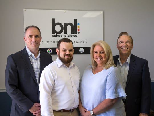 l to r - Bill Aninowsky Jr., second-generation owner of Marlboro-based BNL Enterprises, Jim Green, production manager, Jacqueline Bianchi, Director of Operations at Marlboro-based BNL Enterprises and Bill Aninowsky Sr., founder/owner of Marlboro-based BNL Enterprises.