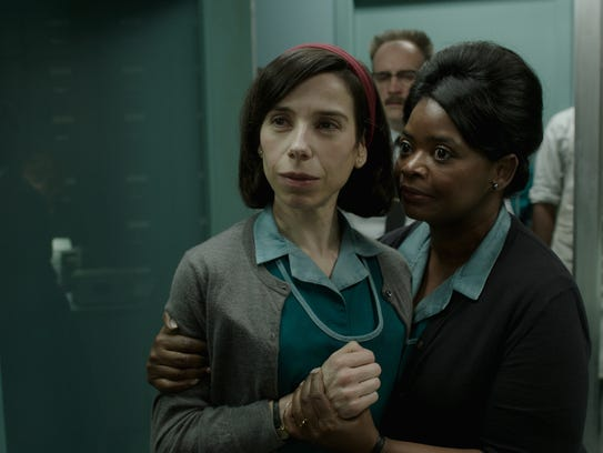 "Sally Hawkins (left) and Octavia Spencer star in ""The Shape of Water."""
