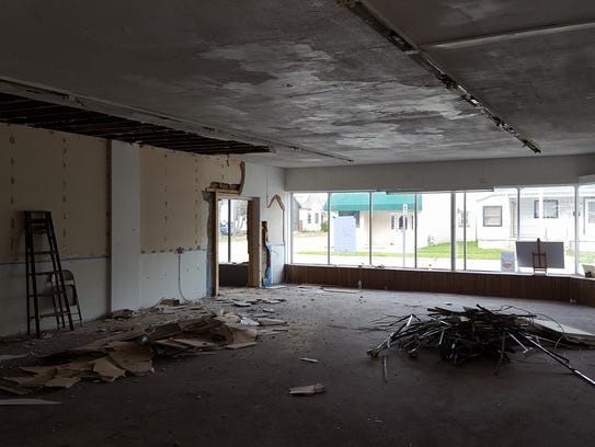 Deconstruction has started inside the future Mid City