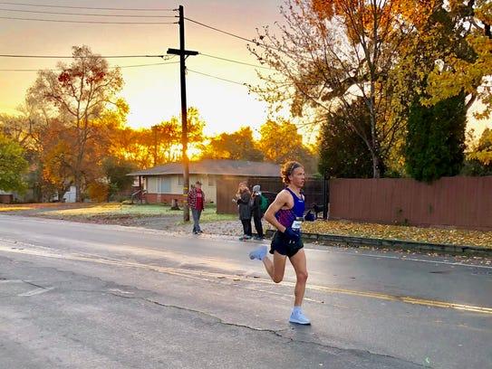 Parker Stinson is known for building big marathon leads