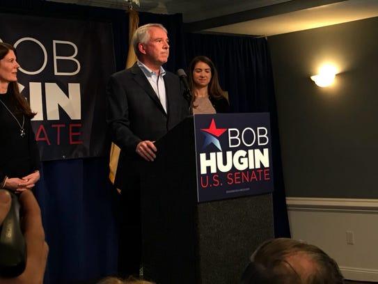Republican Bob Hugin announced his bid to run for the